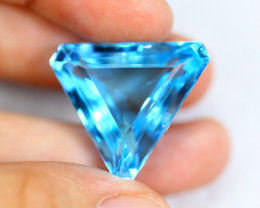 34.36cts Natural Swiss Blue Colour Topaz / RD119
