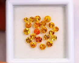 2.36cts Natural Yellow Colour Sapphire Lots/ RD127