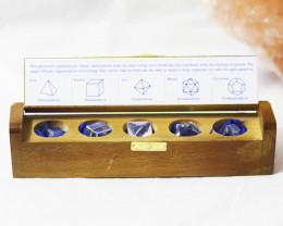 Platonic Crystal  gemstone 9 pc set in display Box
