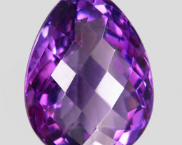 17.58Ct. Natural Rich Purple Amethyst Uruguay  Dazzling Unheated
