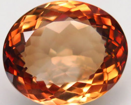 20.26 ct. Top Quality 100% Natural Topaz Orangey Brown Brazil
