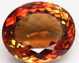 14.21 ct. Top Quality 100% Natural Topaz Orangey Brown Brazil