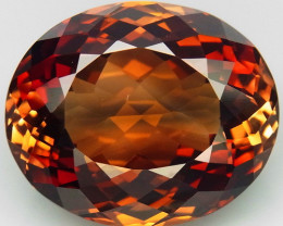 21.51 ct. Top Quality 100% Natural Topaz Orangey Brown Brazil