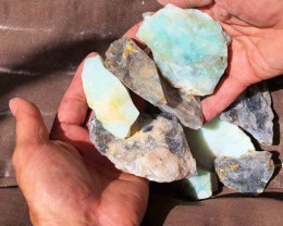 1kg Peru Blue / Grey  Andean Opal Rough