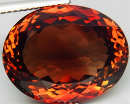 22.24 ct. Top Quality 100% Natural Topaz Orangey Brown Brazil