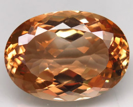 22.17 ct. Top Quality 100% Natural Topaz Orangey Brown Brazil