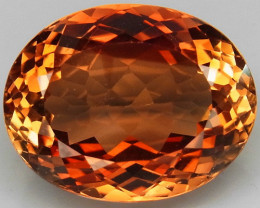 15.56 ct. Top Quality 100% Natural Topaz Orangey Brown Brazil