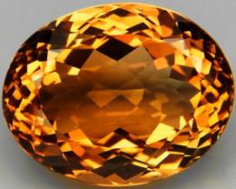 18.52 ct. Top Quality 100% Natural Topaz Orangey Brown Brazil