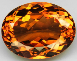 20.18 ct. Top Quality 100% Natural Topaz Orangey Brown Brazil