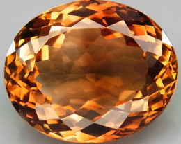 15.15 ct. Top Quality 100% Natural Topaz Orangey Brown Brazil