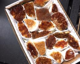 Tray Natural Brazilian Citrine   Specimens