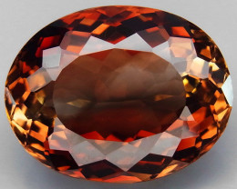 23.00 ct. Top Quality 100% Natural Topaz Orangey Brown Brazil