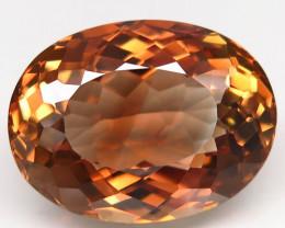 23.03 ct. Top Quality 100% Natural Topaz Orangey Brown Brazil