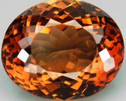 22.65 ct. Top Quality 100% Natural Topaz Orangey Brown Brazil