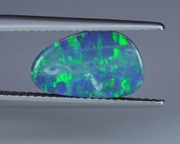 1.83CT 13.2mm ELECTRIC GREEN & BLUE AUSTRALIAN OPAL DOUBLET $1NR!