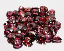 103.55 Cts Natural Reddish Pink Rhodolite Garnet Oval 43 Pcs Africa