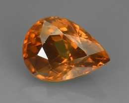 3.05 CTS~TOP LUSTROUS NATURAL CAMBODIA PEAR  ZIRCON!!