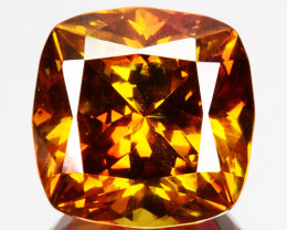 14.81 Cts Natural Fire Sunset Orange Sphalerite Cushion Cut Spain Gem