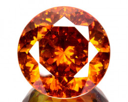 23.91 Cts Natural Fire Sunset Orange Sphalerite Round Cut Spain Gem (Video