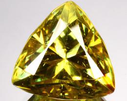 14.04 Cts Unheated Natural Green Sphalerite Trillion Cut Spain (Video Avl)