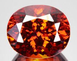 63.10 Cts Natural Fire Sunset Red Sphalerite Oval Cut Spain Gem