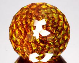 35.13 Cts Unheated Natural Sphalerite Yellowish Markoh Cut Spain (Vdo Av