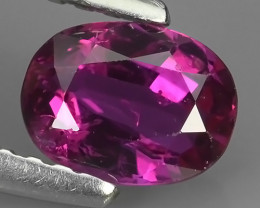 Certified 0.81 cts heated Tremendous REDDISH PINK