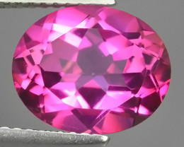 4.40 CTS SUPERIOR! TOP OVAL CUT HOT PINK-TOPAZ GENUINE