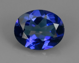 2.80 CTS WONDERFUL TANZANITE COLOR COTED TOPAZ