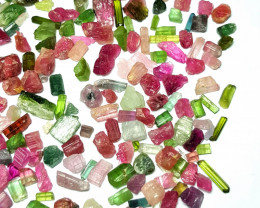 Amazing Natural max color rough Tourmaline lot 250cts-A19