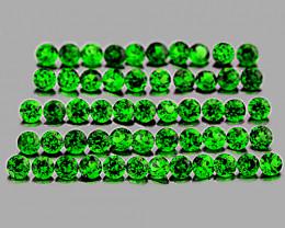 1.00 mm Round 100 pcs Chrome Green Diopside [VVS]