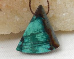 39.5cts Triangle Turquoise ,Handmade Gemstone ,Turquoise Pendant E717