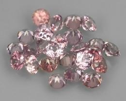 0.70 Cts Natural Intense Beautiful Peech Pink Sapphire Round Parcel!!!