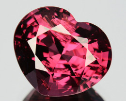 Certified 3.08 Cts Lovely Natural Red Spinel Heart Cut Burmese Unheated Gem