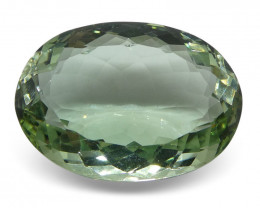 31.09 ct Oval Prasiolite (Green Amethyst)-$1 No Reserve Auction