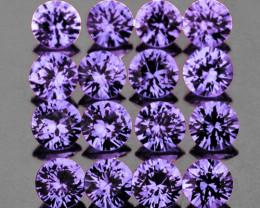1.90 mm Round 25 pcs Unheated Purple Sapphire [VVS]