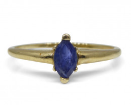 0.3 ct Marquise Sapphire Ring  10kt Yellow Gold