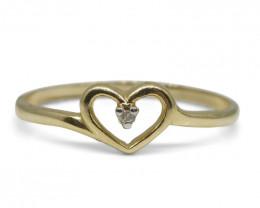0.02 ct Round Diamond Ring  10kt Yellow Gold