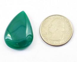 Genuine 31.00 Cts Onyx Pear Shape Cabochon