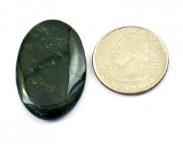 Genuine 32.00 Cts Bloodstone Oval Shape Cabochon