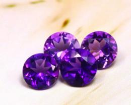 Amethyst 1.82Ct 4Pcs Natural Uruguay VVS Electric Purple Amethyst E0909