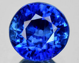 1.86 Cts Natural Royal Blue Kyanite 6.8mm Round Cut Nepal