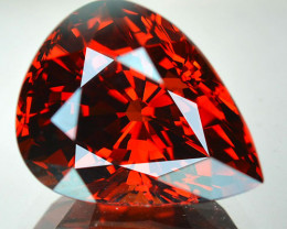 9.19 Cts Genuine Natural Mandarin Red Spessartite Garnet Pear Cut Namibia