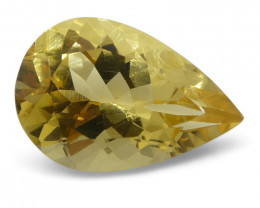 2.71 ct Pear Heliodor- $1 No Reserve Auction