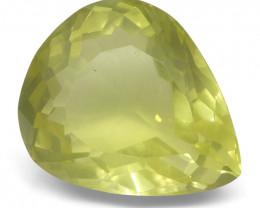 15.87 ct Pear Lemon Citrine- $1 NR Auction