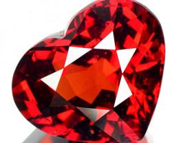 8.15 Cts Unheated Natural Red Spessartite Garnet Heart Cut Namibia (Vdo