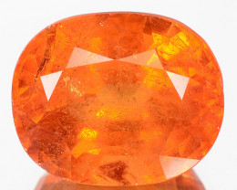 7.85 Cts Unheated Natural Mandarin Orange Spessartite Garnet Oval Namibian