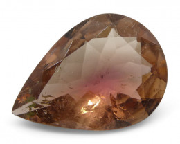 3.6 ct Pear Shape Pink Tourmaline-$1 NR Auction