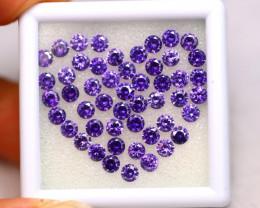 Amethyst 15.50Ct 50Pcs Natural Uruguay VVS Electric Purple Amethyst EN08