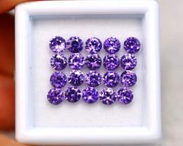 Amethyst 6.23Ct 20Pcs Natural Uruguay VVS Electric Purple Amethyst EN09